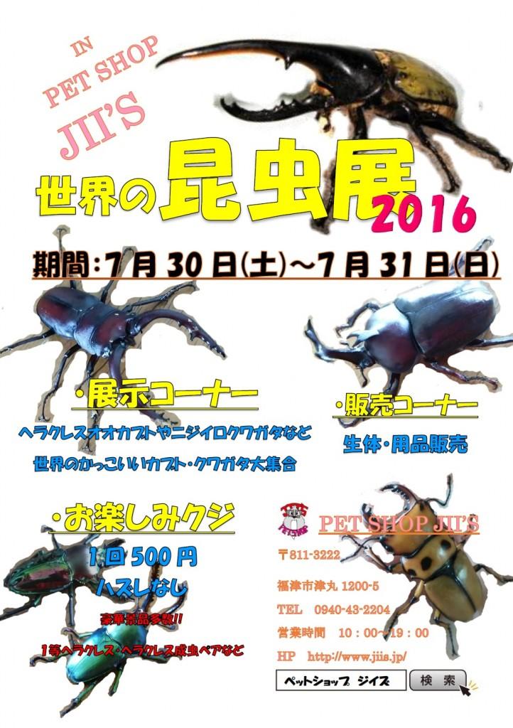 イベント『世界の昆虫展』開催決定!!